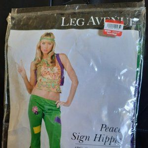 Women's Peace Sign Hippie Dress Costume by Leg Ave